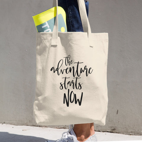 The Adventure Starts Now Cotton Tote Bag - Apparelized