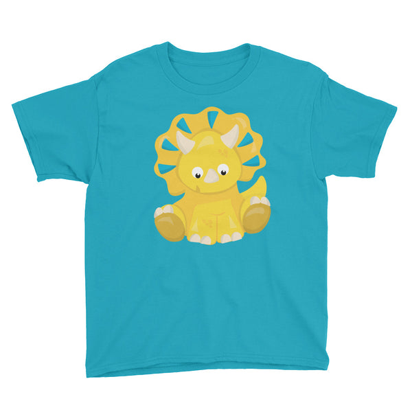 Yellow Dinosaur Youth Short Sleeve T-Shirt - Apparelized