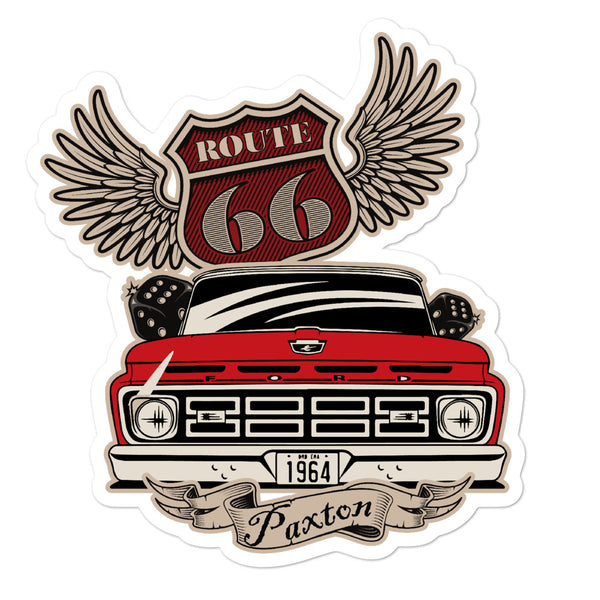 Paxton Garage Rt. 66 '65 Slick Bubble-free stickers