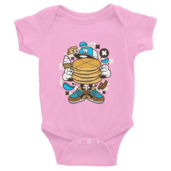 Waffles and Ice cream Cute Cartoon Baby Infant Bodysuit