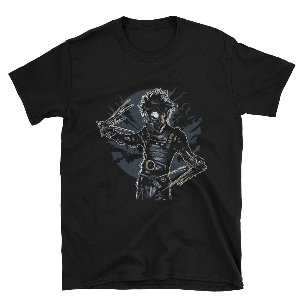 Edward Scissorhands Gas Mask Unisex T-Shirt - Apparelized