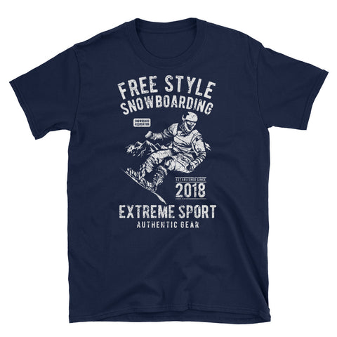 Freestyle Snowboarding Short-Sleeve Unisex T-Shirt - Apparelized