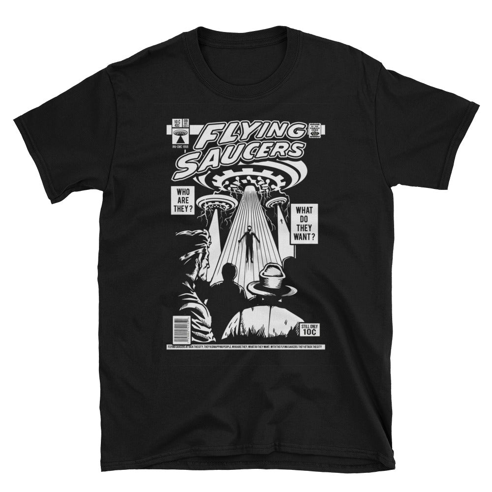 Flying Saucer Retro Design Short-Sleeve Unisex T-Shirt - Apparelized