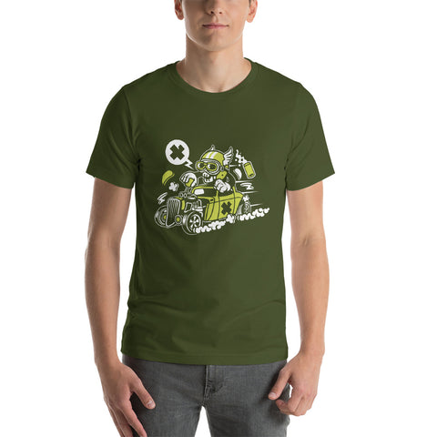 Old School Skull Hot Rod Short-Sleeve Unisex T-Shirt - Apparelized