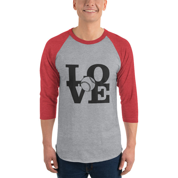 LOVE Baseball 3/4 sleeve raglan shirt - Apparelized