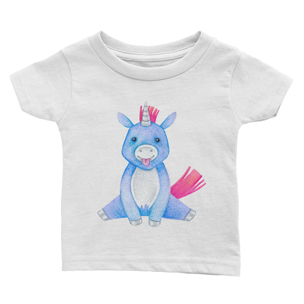 Baby Unicorn Watercolor Design Infant Tee - Apparelized