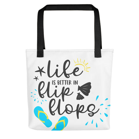 Life is Better in Flip Flops Tote bag - Apparelized