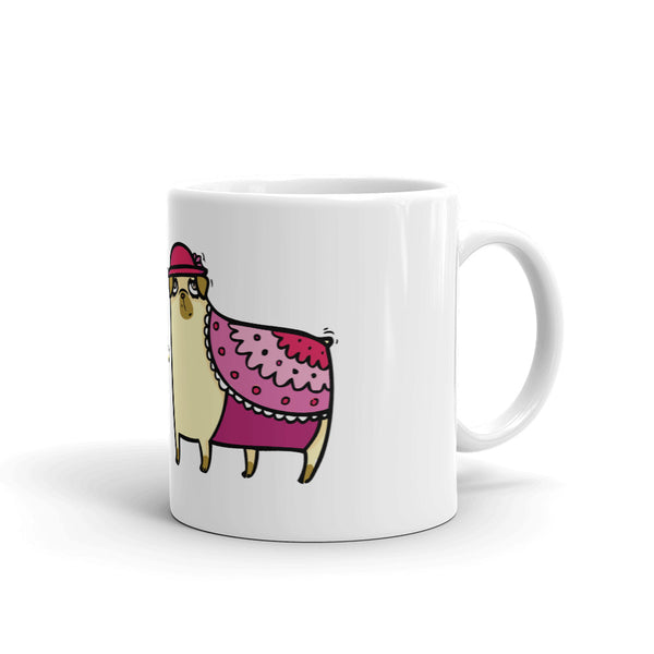 Be Yourself Ms. Pug Mug - Gift For Mom - Pug Lover Coffee Mug