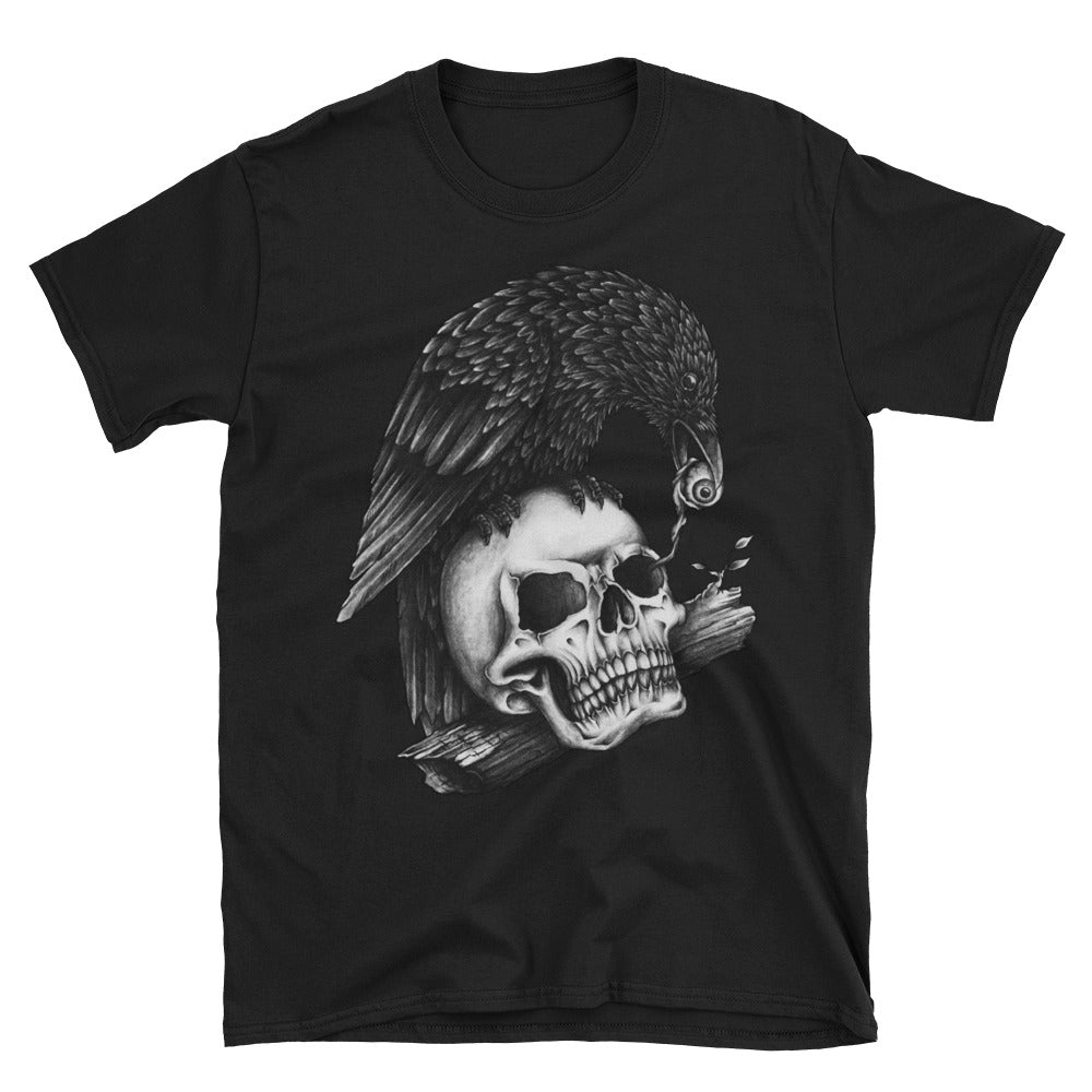 Skull and Crow Short-Sleeve Unisex T-Shirt - Apparelized