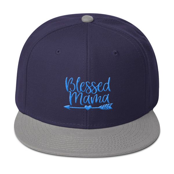Blessed Mama 3D Embroidered Snapback Hat