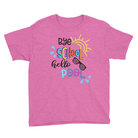 Bye School, Hello Pool Youth Short Sleeve T-Shirt - Apparelized