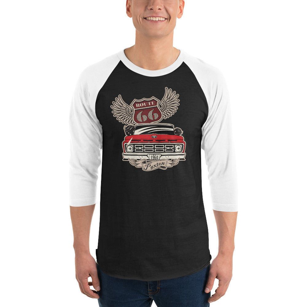 Paxton Garage '64 slick Rt. 66 3/4 sleeve raglan shirt