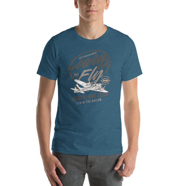 Learn To Fly Classic Plane Short-Sleeve Unisex T-Shirt - Apparelized