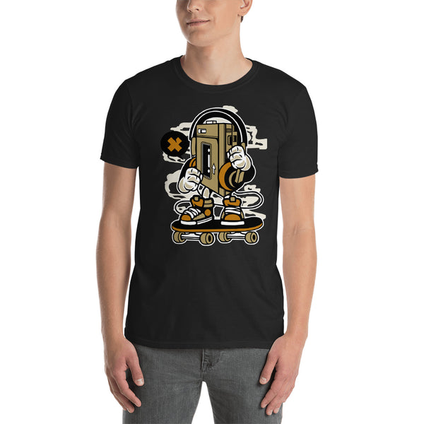 Old School Walkman Skater Short-Sleeve Unisex T-Shirt - Apparelized