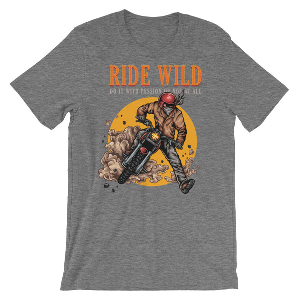 Ride Wild Motorcycle Short-Sleeve Unisex T-Shirt - Apparelized
