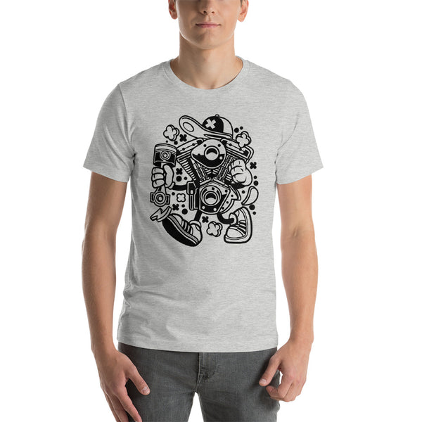 The Engine Hip Hop Artwork Short-Sleeve Unisex T-Shirt - Apparelized