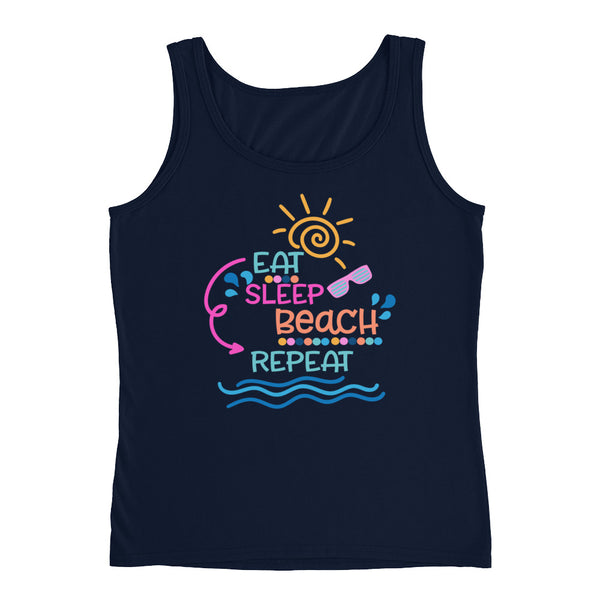 Eat, Sleep, Beach, Repeat Ladies' Tank - Apparelized