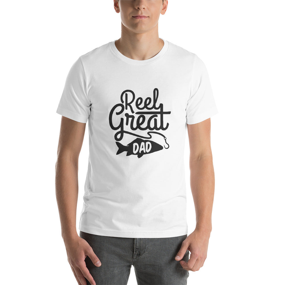 Reel Great Dad Short-Sleeve Unisex T-Shirt - Apparelized
