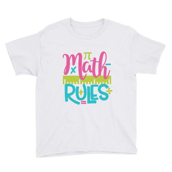 Math Rules Kids Short Sleeve T-Shirt - Apparelized