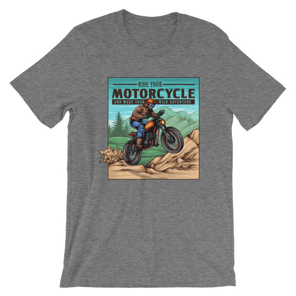 Ride Your Motorcycle Old School Retro Short-Sleeve Unisex T-Shirt - Apparelized