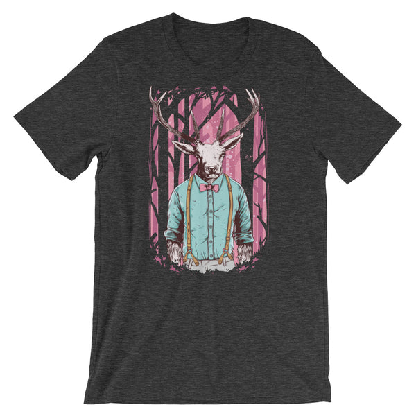 Weird Deer Shirt Short-Sleeve Unisex T-Shirt - Apparelized