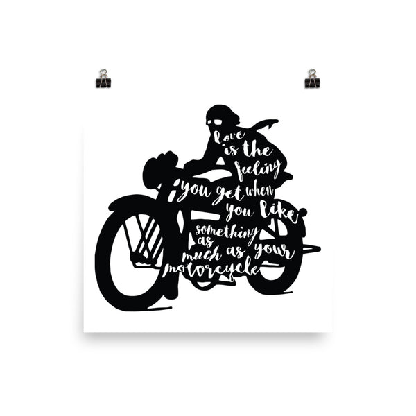 Love is Motorcycle Poster - Apparelized