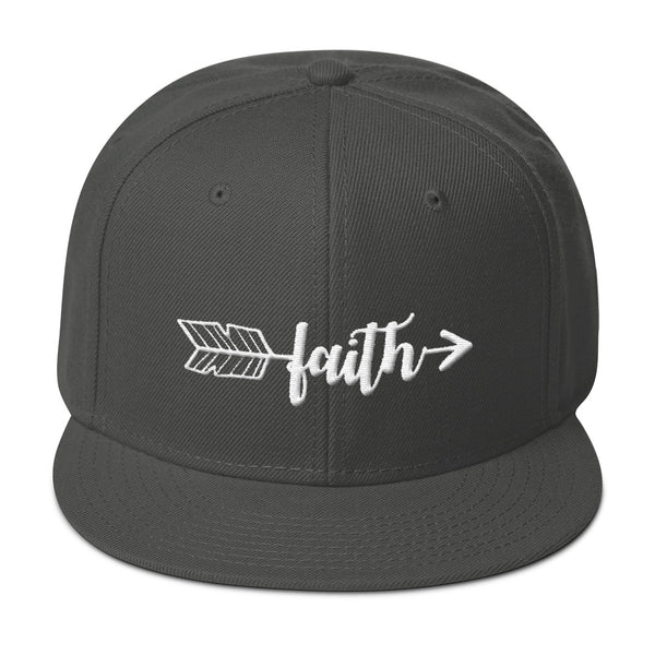 Faith Arrow 3d Puff Embroidery Snapback Hat