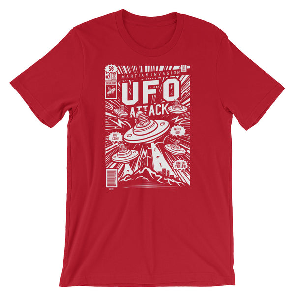 UFO Attack Short-Sleeve Unisex T-Shirt - Apparelized