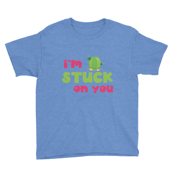 I'm Stuck On You Cute Cactus Kids Shirt - Apparelized