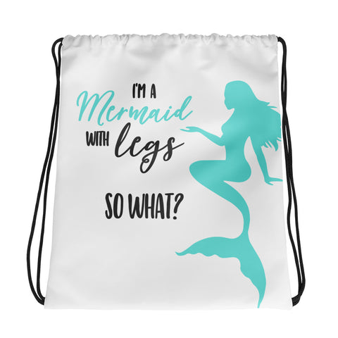 I'm A Mermaid Drawstring bag - Apparelized