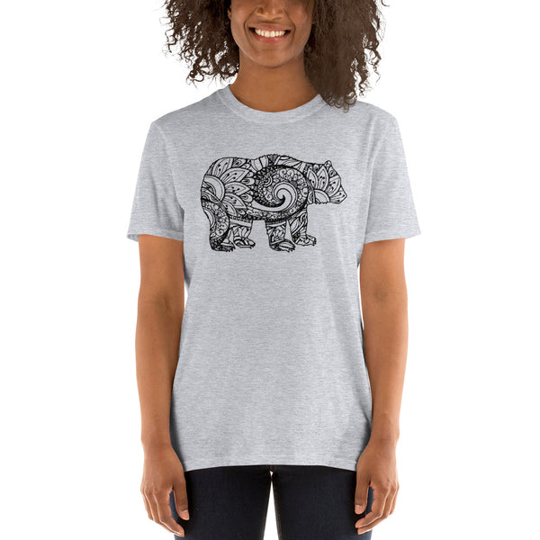 Bear Mandala Short-Sleeve Unisex T-Shirt