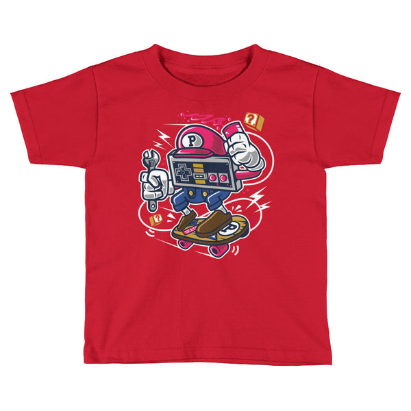 Old School Player Skater Kids Short Sleeve T-Shirt - Apparelized