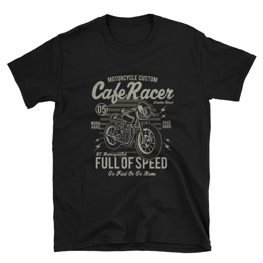 Cafe Racer Full of Speed Unisex T-Shirt - Apparelized