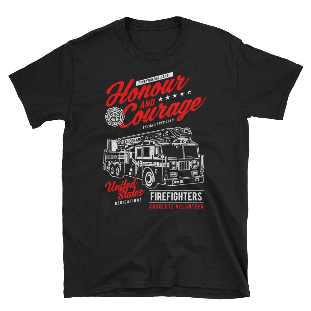 Honor and Courage Firefighter T-shirt - Apparelized