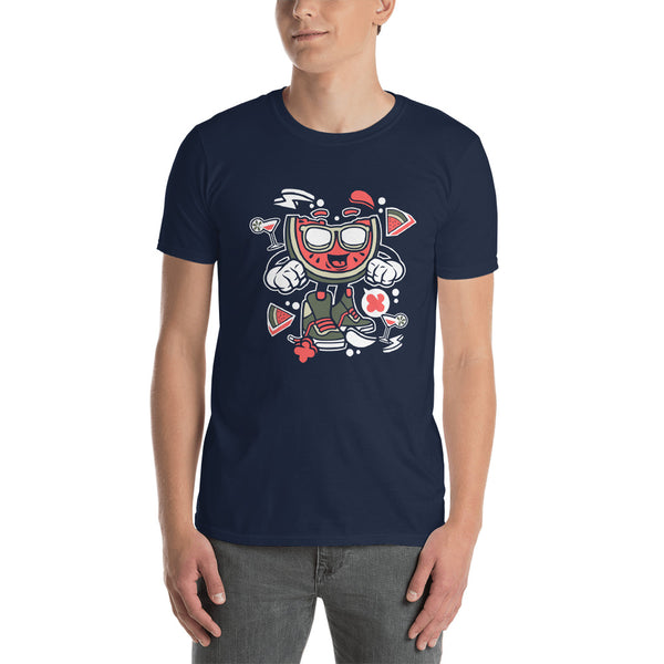 Watermelon Dude Short-Sleeve Unisex T-Shirt - Apparelized