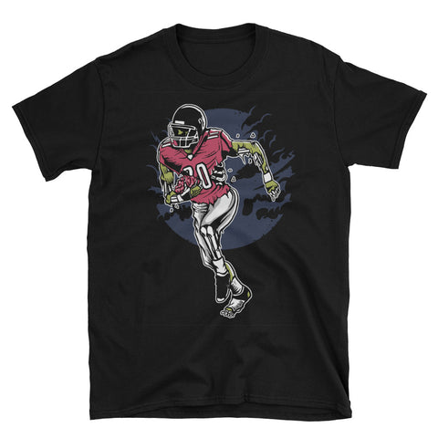 Zombie Football Player Short-Sleeve Unisex T-Shirt - Apparelized