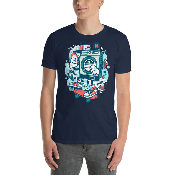 Washing Machine Skater Dude Short-Sleeve Unisex T-Shirt - Apparelized