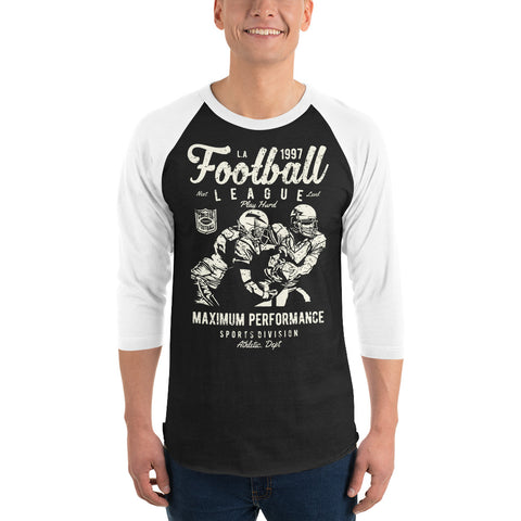 Retro Football League 3/4 sleeve raglan shirt - Apparelized