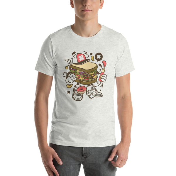 Hip Hop Sandwich Artwork Short-Sleeve Unisex T-Shirt - Apparelized