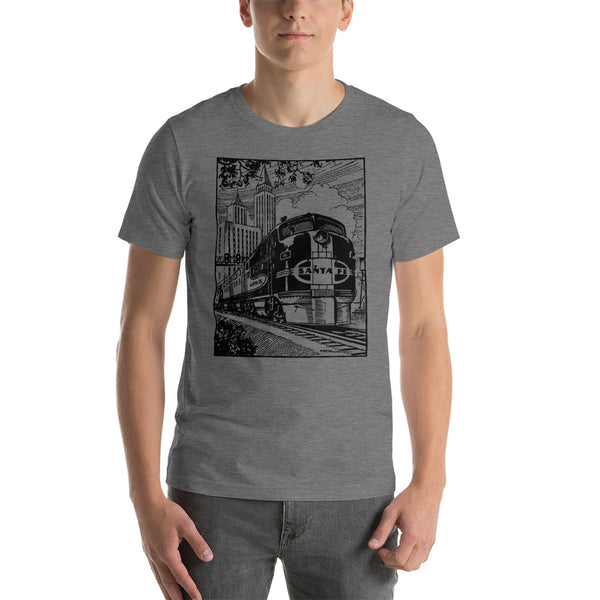 Vintage Locomotive Short-Sleeve Unisex T-Shirt - Apparelized