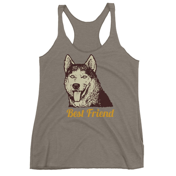 Best Friend Husky Women's Racerback Tank - Apparelized