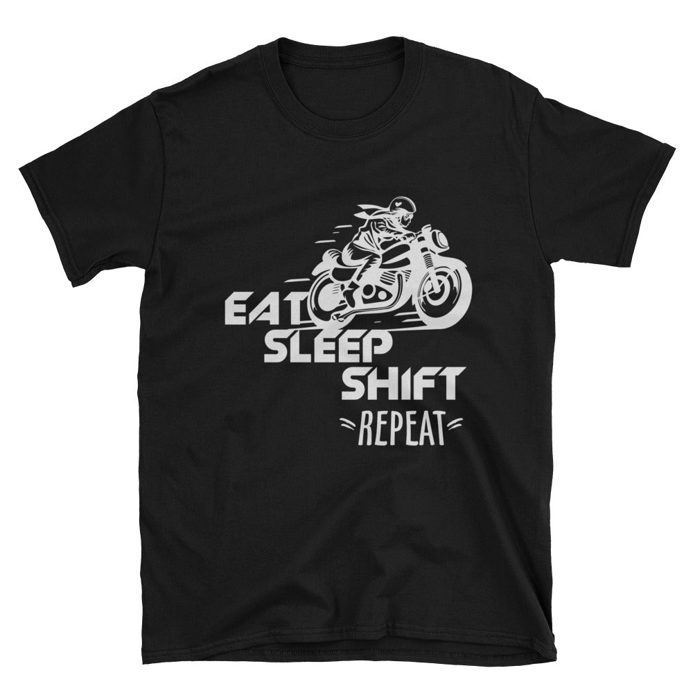 Eat Sleep Shift Repeat Unisex T-Shirt - Apparelized