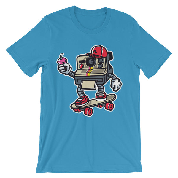 Polaroid Skater Unisex short sleeve t-shirt - Apparelized