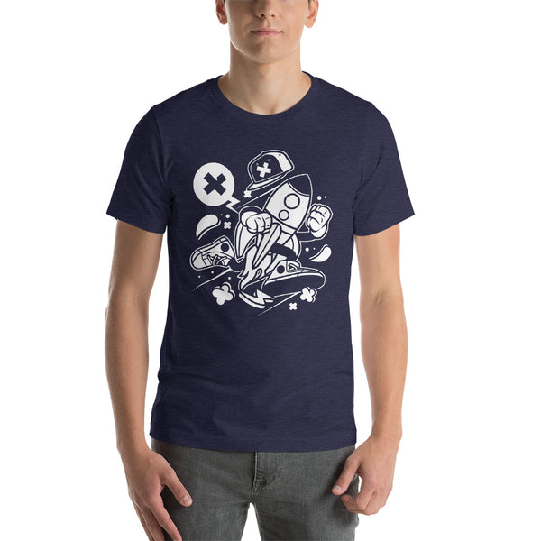 Hip Hop Rocket Ship Short-Sleeve Unisex T-Shirt - Apparelized