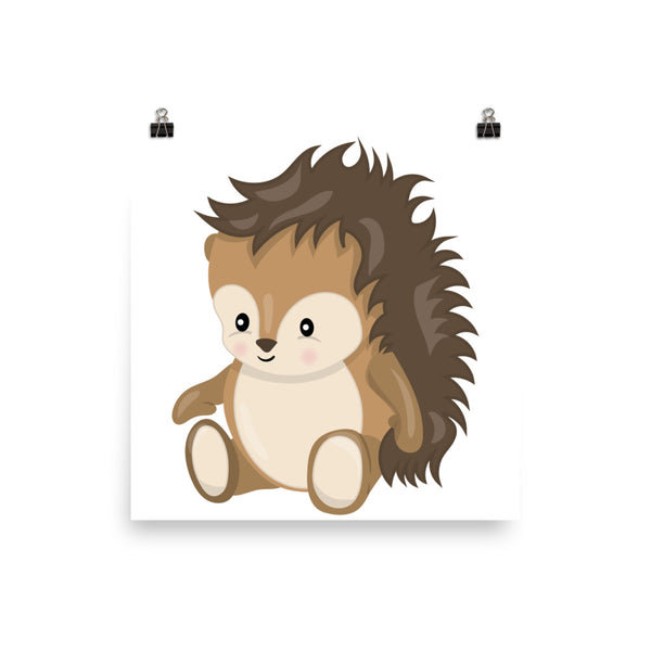 Cute Hedgehog Wall Art for Nursery or Kids Room - Apparelized