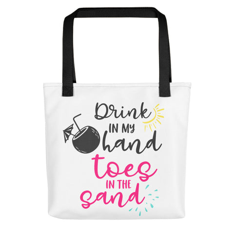 Toes In Sand Drink In Hand Tote bag - Apparelized