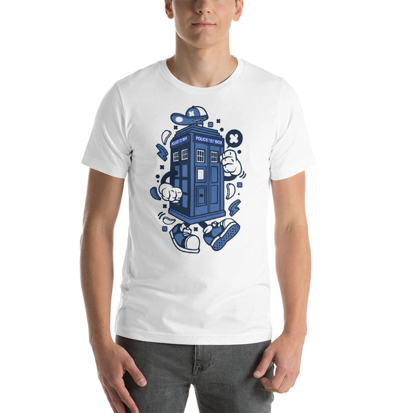 Retro Telephone Box Short-Sleeve Unisex T-Shirt - Apparelized