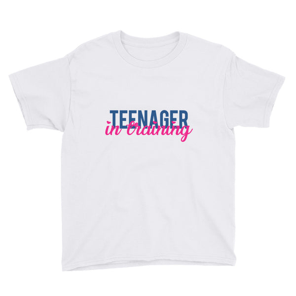 Teenager in Training Youth Short Sleeve T-Shirt - Apparelized