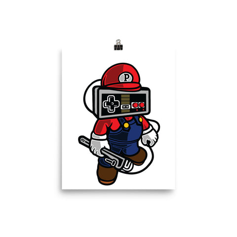 Nintendo Mario Gamer Poster - Apparelized
