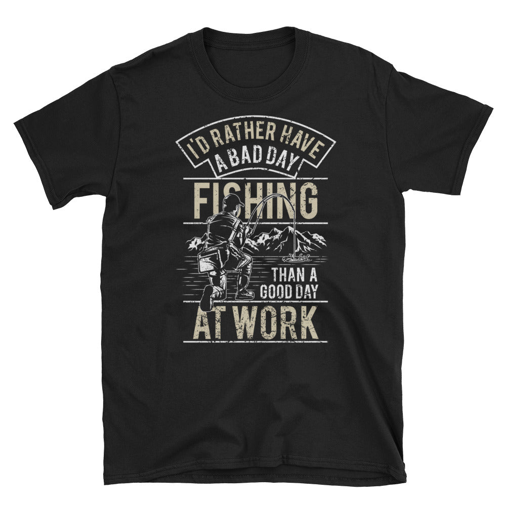 I'd Rather Be Fishing Short-Sleeve Unisex T-Shirt - Apparelized
